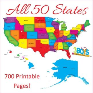 50 States Unit Study (700 printable pages)