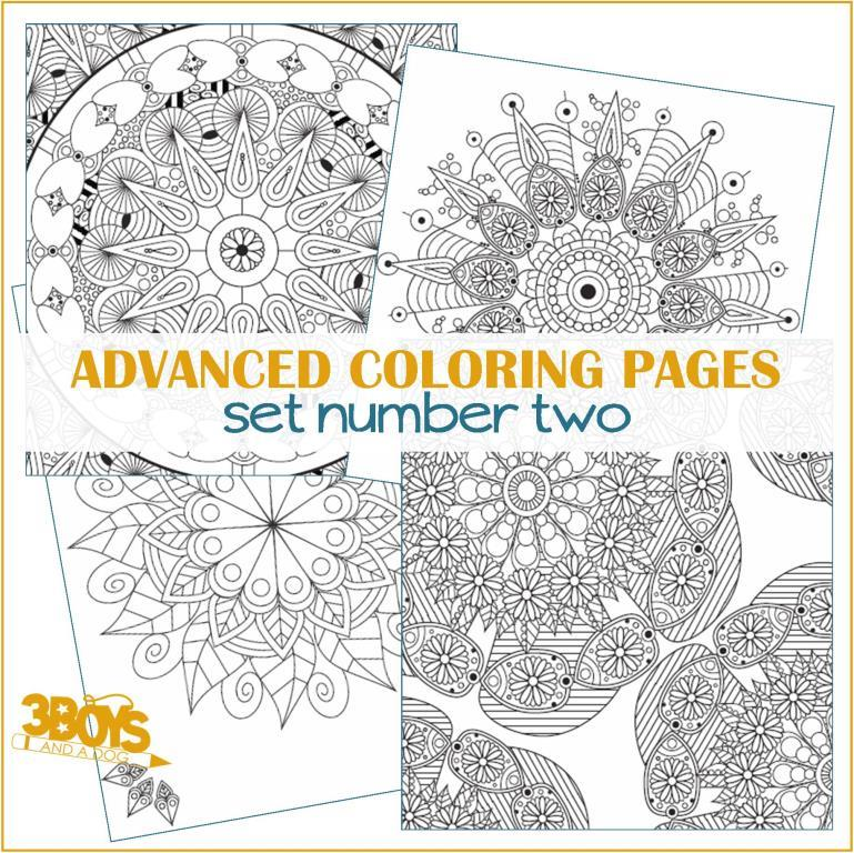 Advanced Coloring Pages Set #2