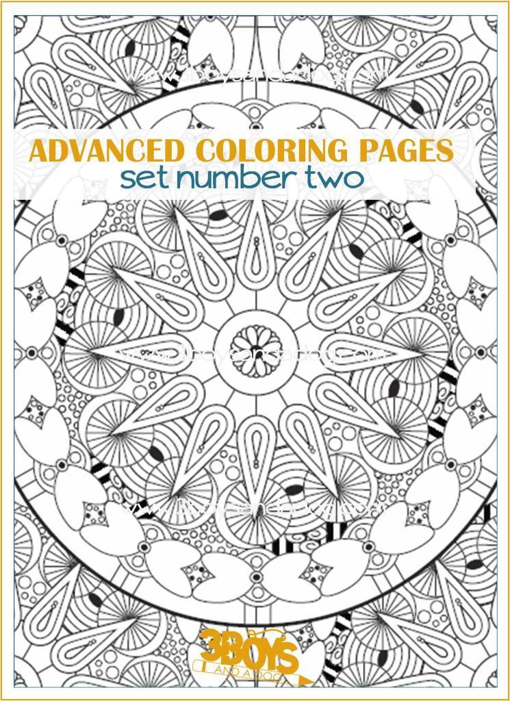 Advanced Coloring Pages Set #2