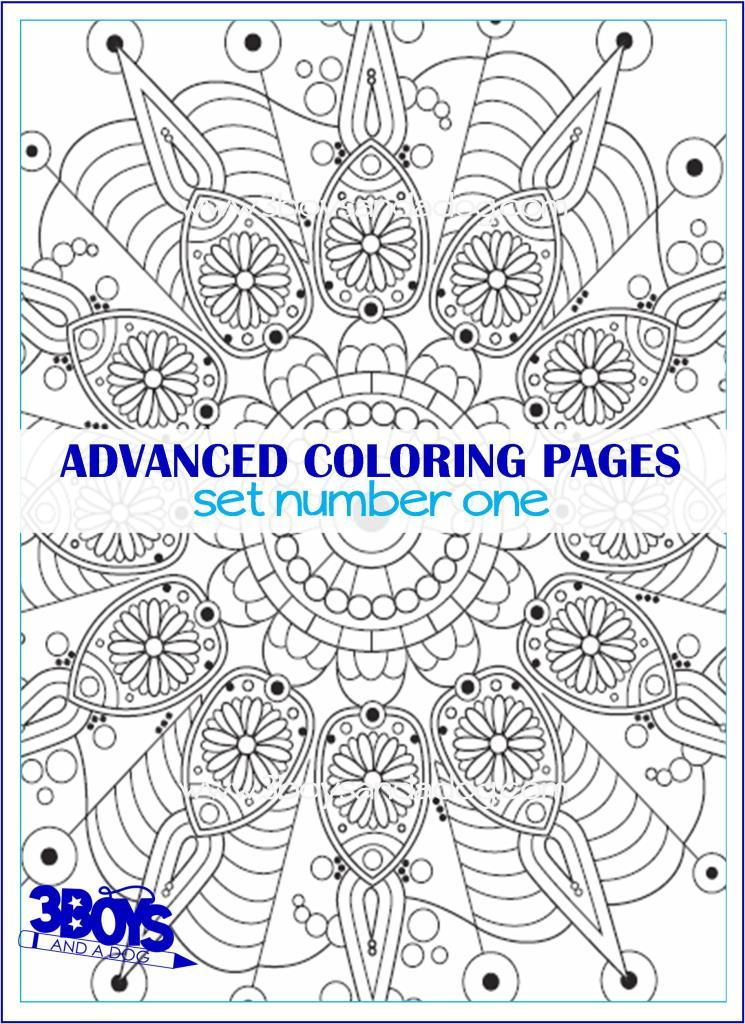 Advanced Coloring Pages Set #1