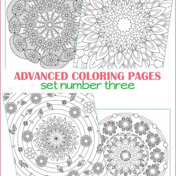 Advanced Coloring Pages Set #3