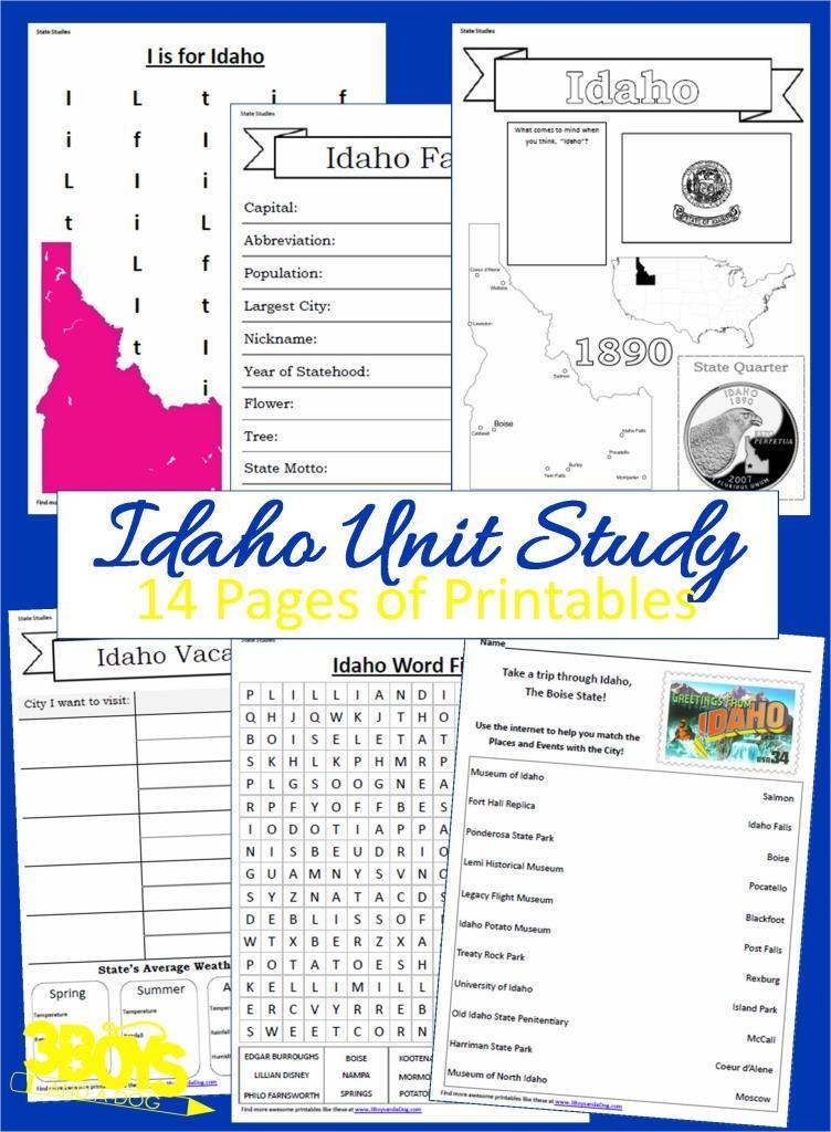 Idaho State Unit Study