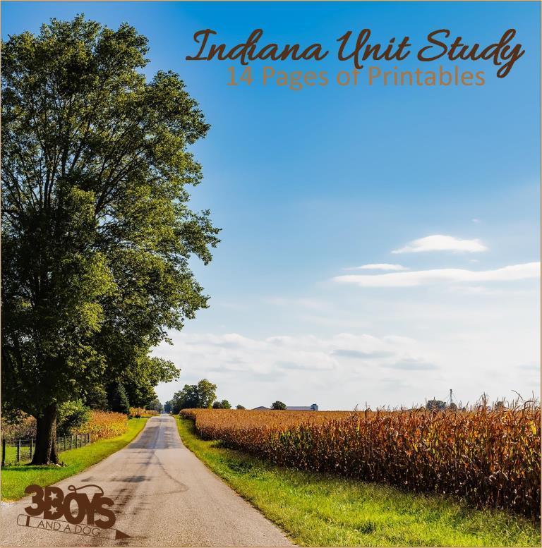 Indiana State Unit Study