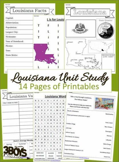 Louisiana State Unit Study