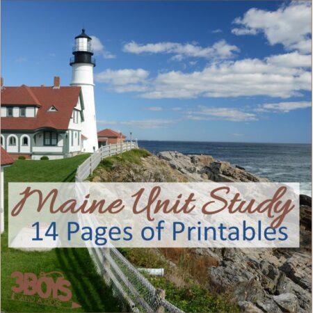Maine State Unit Study