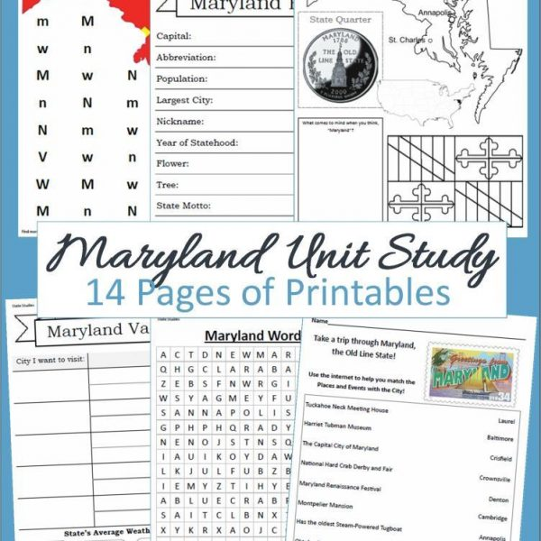 Maryland State Unit Study