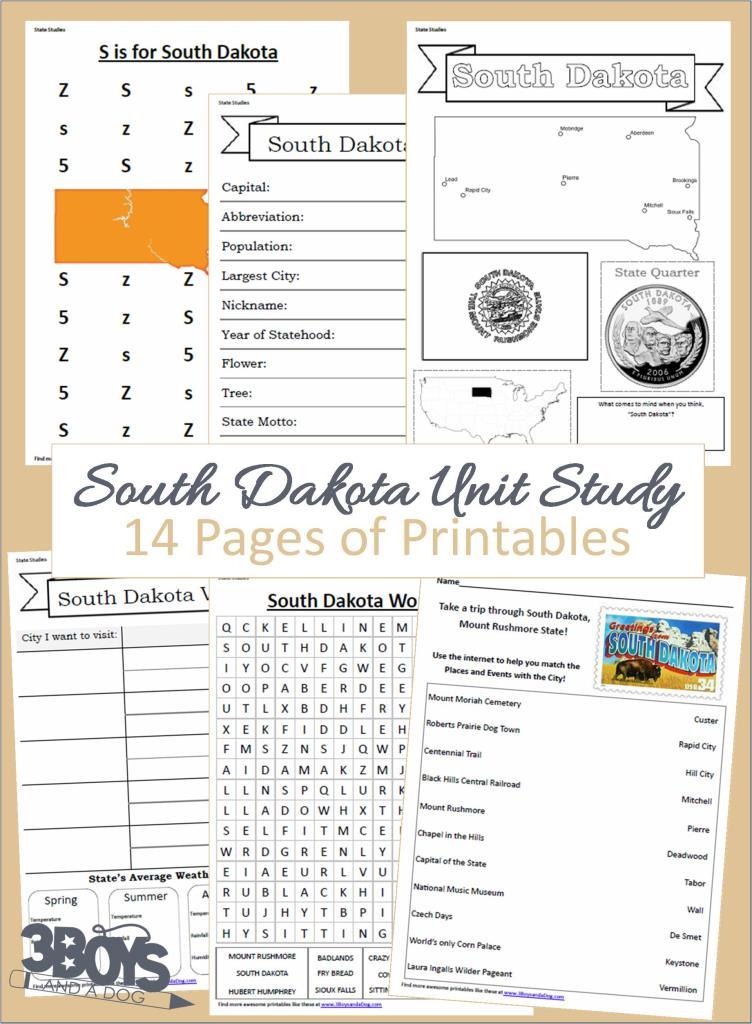 South Dakota State Unit Study