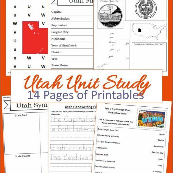 Utah State Unit Study