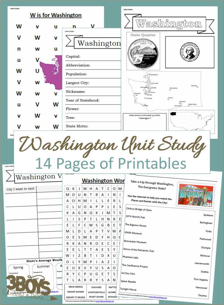 Washington State Unit Study
