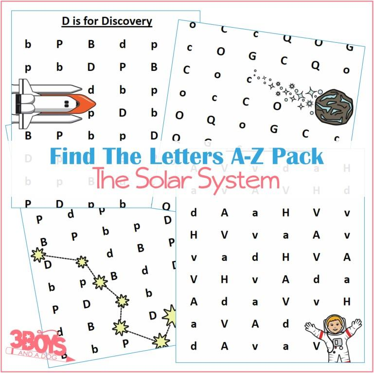 A to Z Letter Finds – Solar System Learning Kit