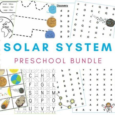 Preschool Solar System Bundle