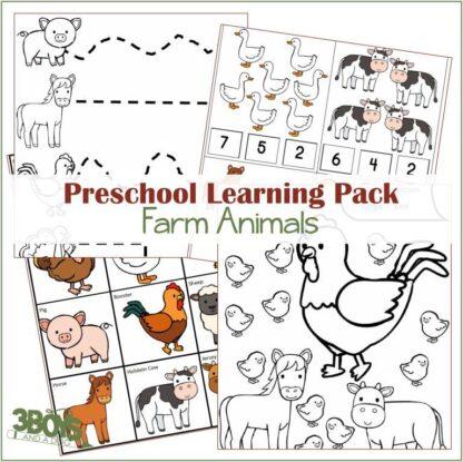 Farm Animals Learning Kit
