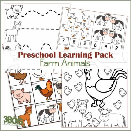 Farm Animals Learning Kit