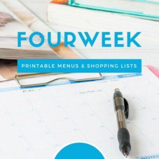 Meal Planning Printables: Weeks 6 through 9