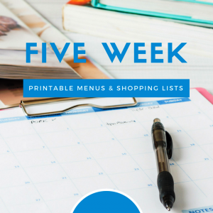 Meal Planning Printables: Weeks 14 through 18