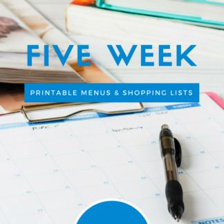 Meal Planning Printables: Weeks 14 through 18