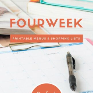 Meal Planning Printables: Weeks 32 through 35