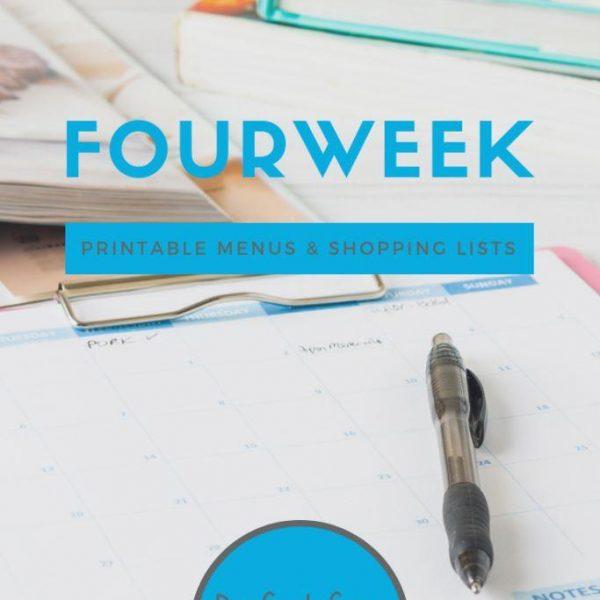 Meal Planning Printables: Weeks 36 through 39