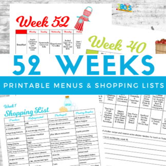 52 Weeks of Meal Plans and Shopping Lists