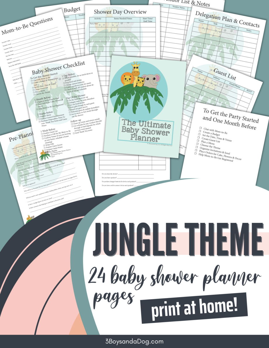 Jungle Themed Baby Shower Planner