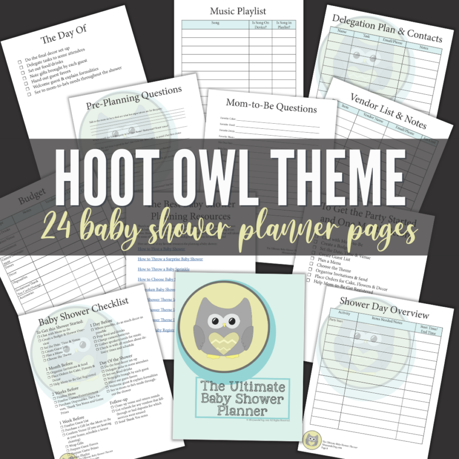 Owl Themed Baby Shower Planner