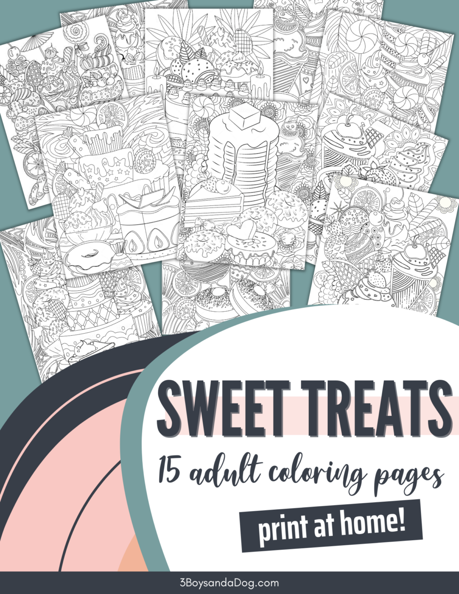 Sweet Treats Adult Coloring Book