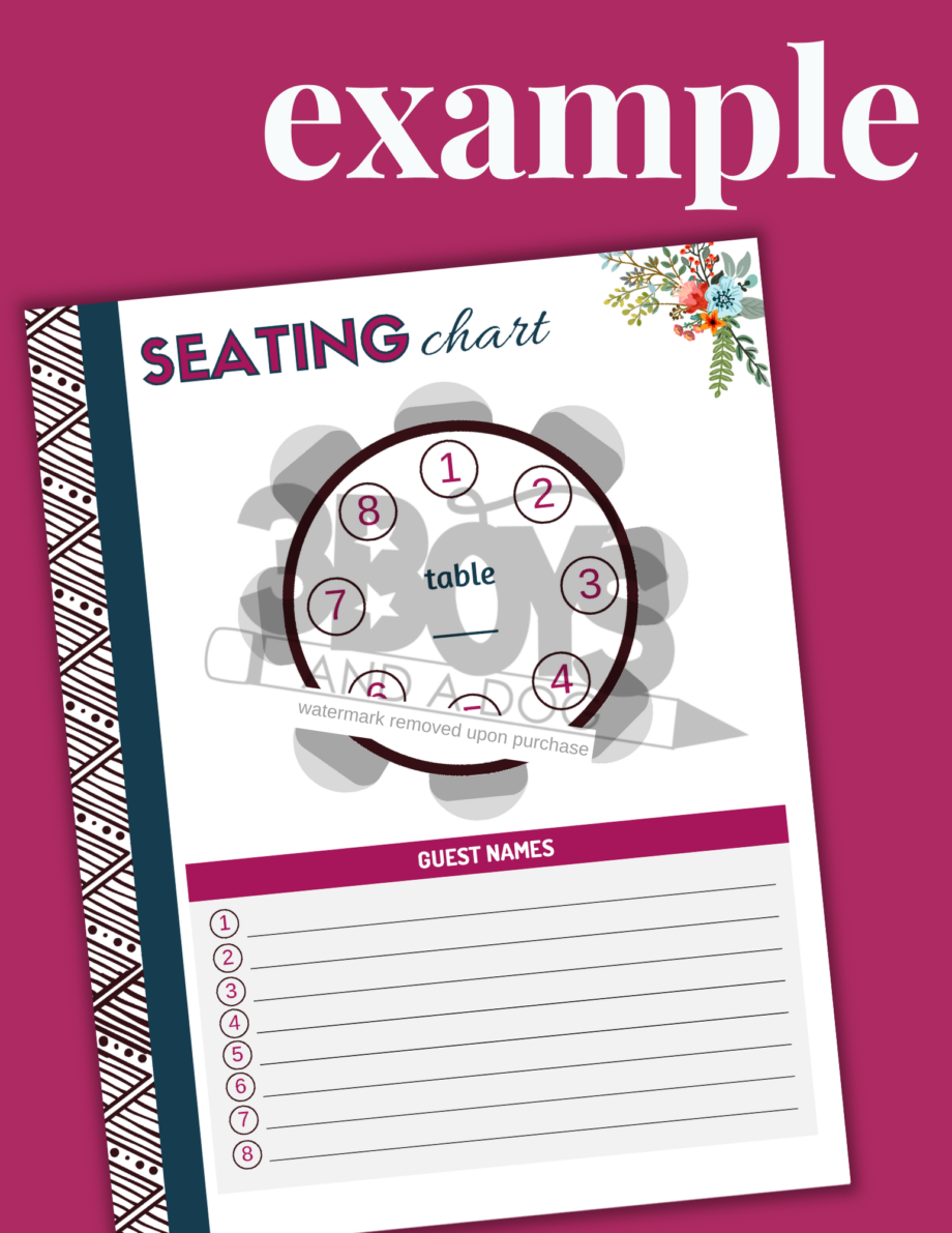 Printable Party Planner