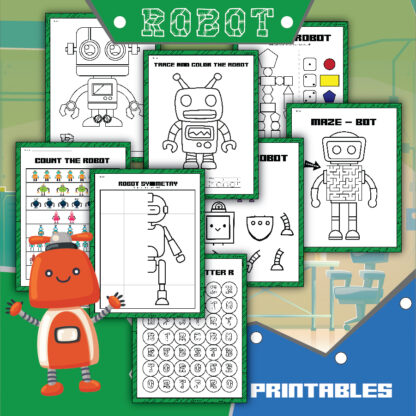 Robot Activity Sheets for Preschool