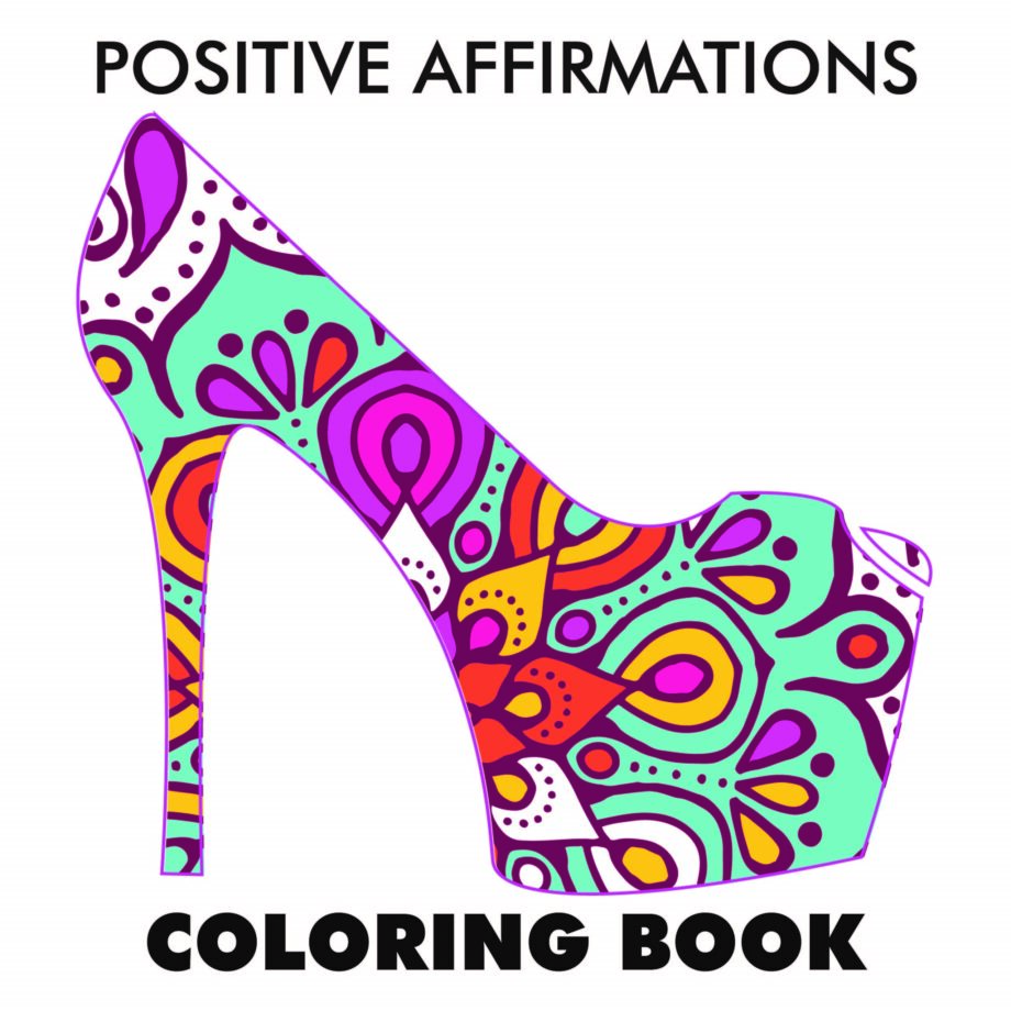 Shoes Positive Quotes Coloring Pages for Adults