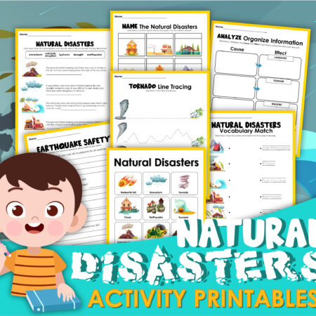 Natural Disasters Activity Sheets