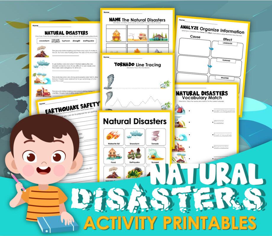 Natural Disasters Activity Sheets