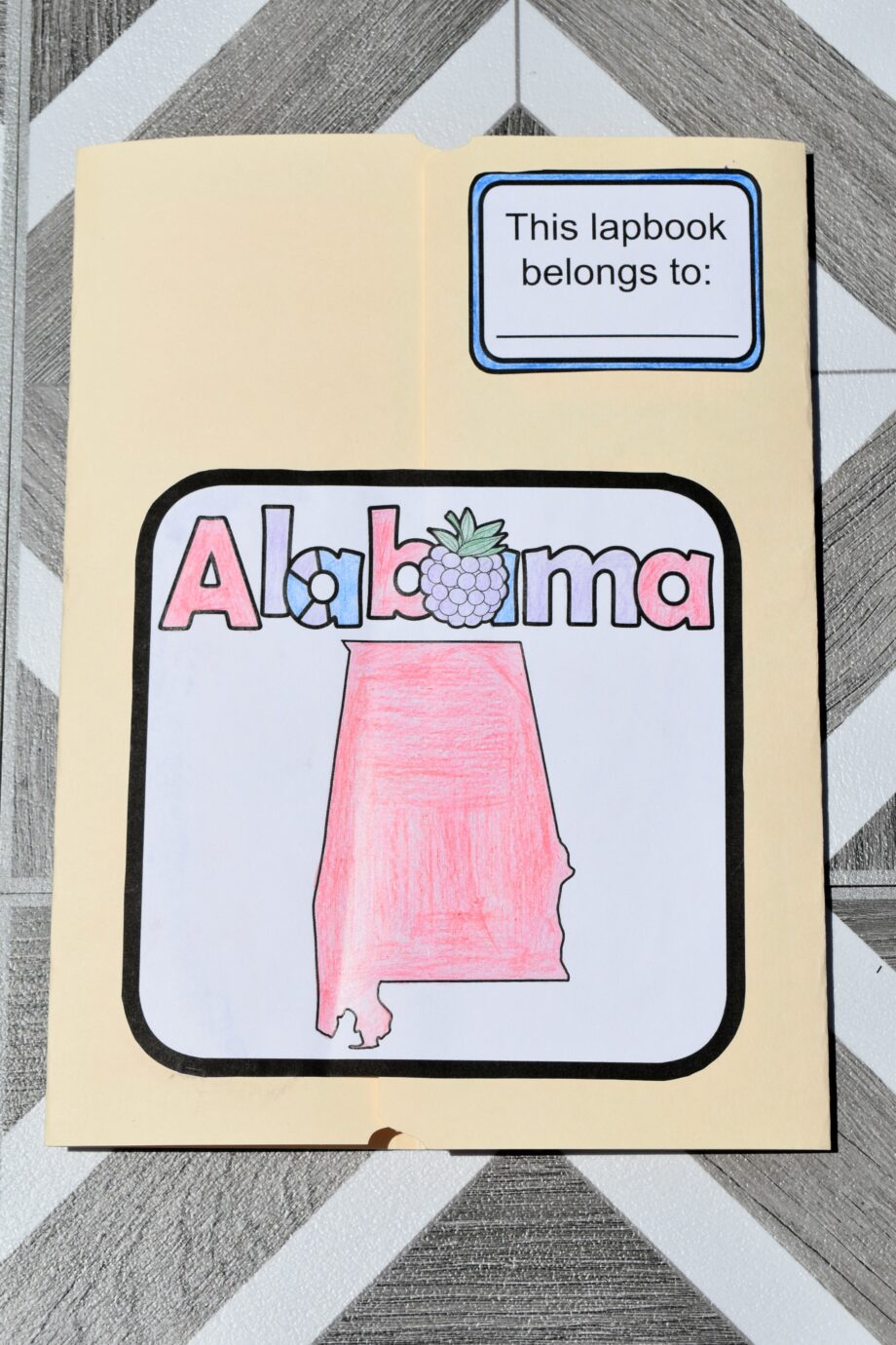 Alabama Lapbook Elements