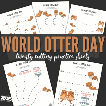 World Otter Day Cutting Sheets