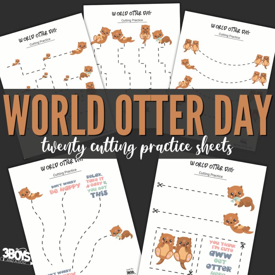 World Otter Day Cutting Sheets
