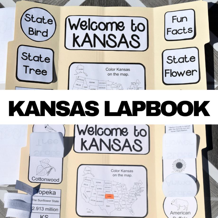 Kansas Lapbook Elements