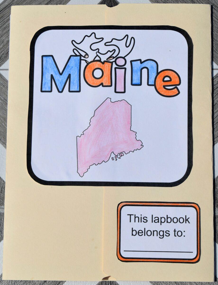 Maine Lapbook Elements