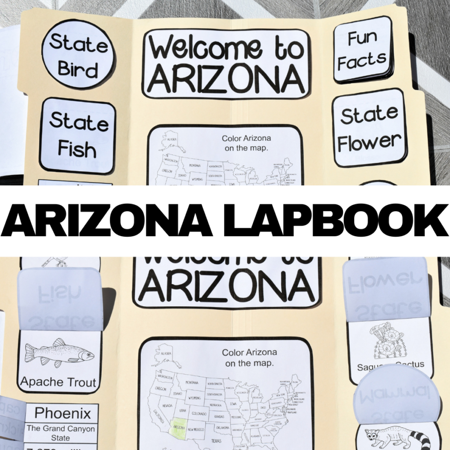 Arizona Lapbook Elements
