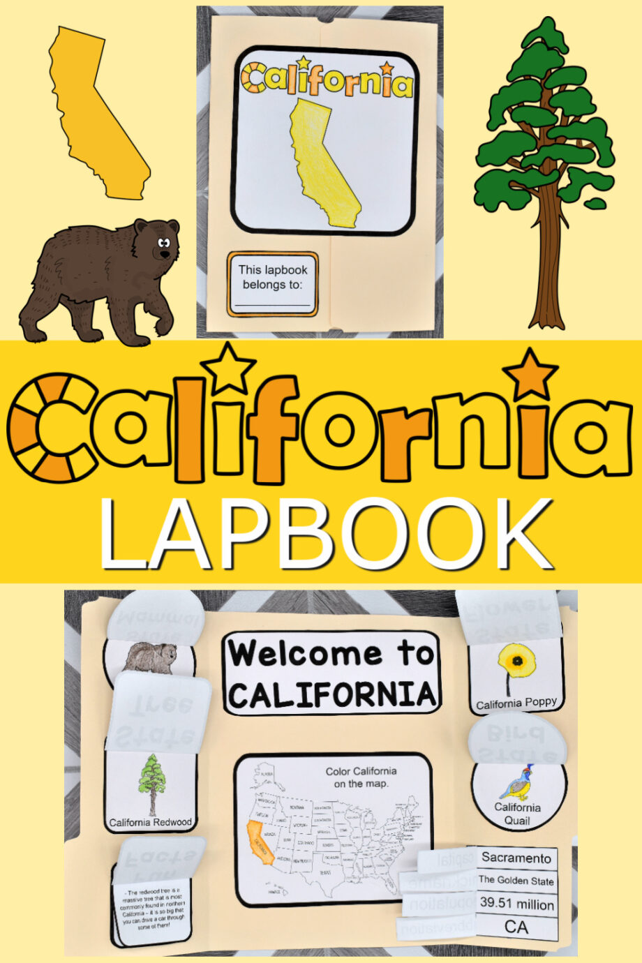 California Lapbook Elements