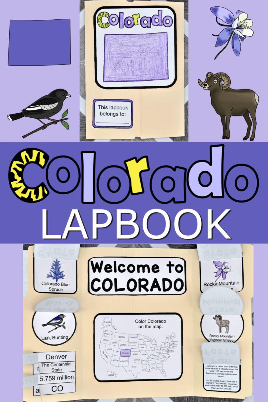 Colorado Lapbook Elements