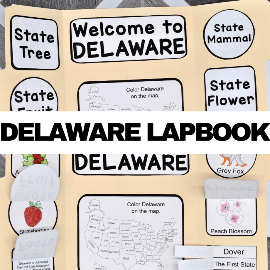 Delaware Lapbook Elements