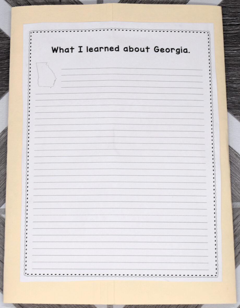 Georgia Lapbook Elements