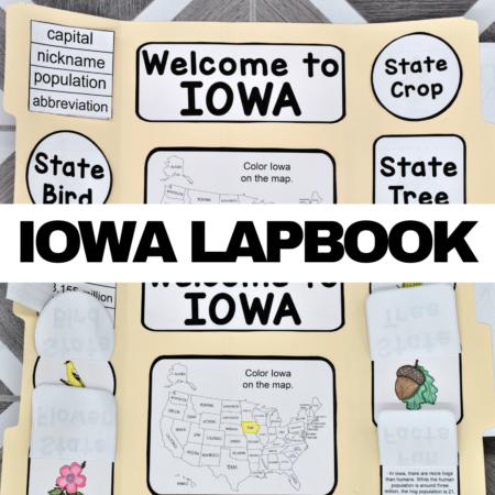 Iowa Lapbook Elements