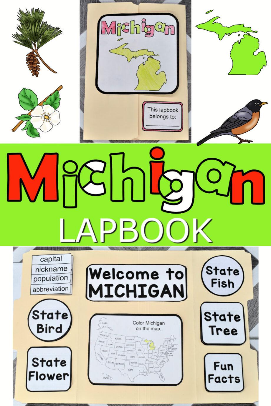 Michigan Lapbook Elements