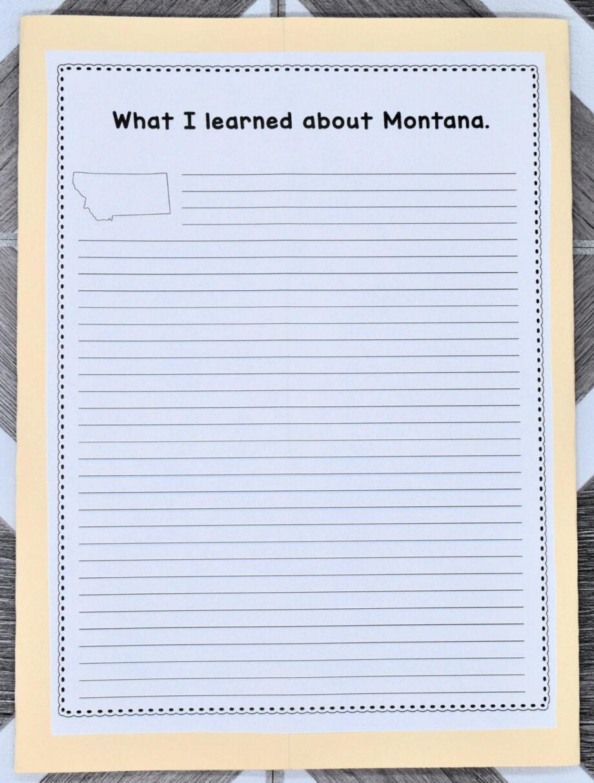 Montana Lapbook Elements
