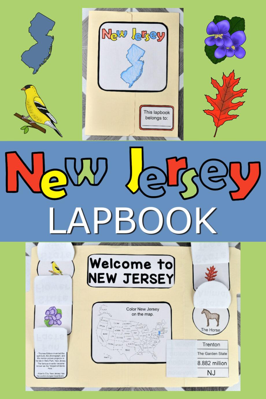 New Jersey Lapbook Elements