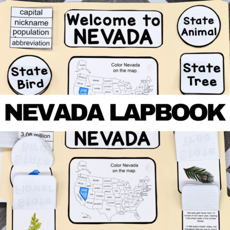 Nevada Lapbook Elements